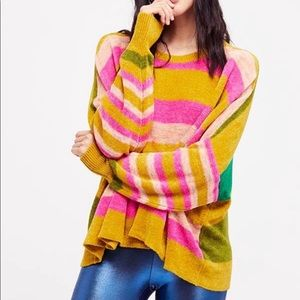 Free People All About You Striped Knit Pullover